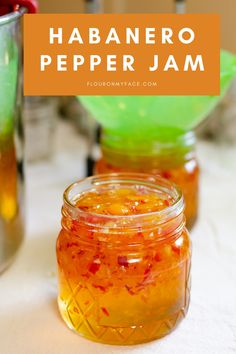 Habanero Pepper jam is the best hot pepper jelly you can make. It is delicious with cream cheese or crackers. It can also be served with grilled chicken or fish. Pepper Jelly Recipes, Hot Pepper Jelly, Homemade Jelly, Homemade Pickles, Jam Recipes, Canning Recipes, Canning Vegetables, Stuffed Hot Peppers, Sweet And Spicy