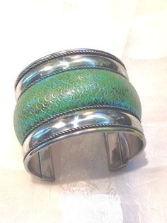 Patinated Bracelet Sterling Silver Cuff by NorthCoastCottage