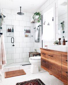 Bathroom Colors, Bathroom Sets, White Bathroom, Bathroom Interior, Small Bathroom, Master Bathroom, Asian Bathroom, Disney Bathroom, Bathroom Plants