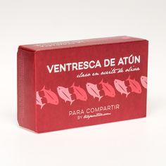 Ventresca de Atún Claro en Aceite Oliva Para Compartir by Tuaperitivo.com. Es muy melosa y se deshace en la boca, perfecta para el Aperitivo.