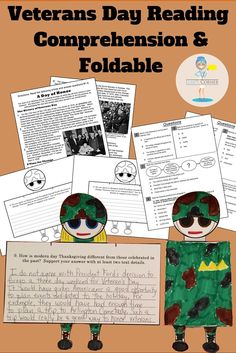 "GRADES 3-5: We've put a twist on Reading Comprehension by incorporating a Foldable Craft! No ""drill and kill"" here! The students will read the informational text entitled ""A Day of Honor"". The reading is followed by a comprehension assessment consisting of 8 multiple choice questions (that reflect the Common Core Standards), and a short response question that requires text based evidence."