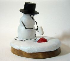 Snowman Carving!