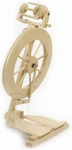 Lendrum Spinning Wheel-Folding Wheel by Lendrum Double Treadle