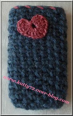 Pochette pour téléphone portable au crochet
