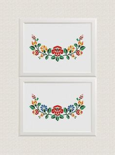 flowers cross stitch pattern retro counted cross stitch