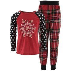 Komar Kids Girls  Holiday Snowflake 2pc Pajama Set 3a8df3611