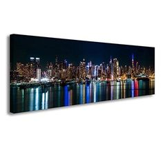 [Framed] New York Cityscape Modern Canvas Wall Art Prints Picture Home Decor New #youkuart #Modern