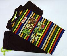 #Pijama #admas estampado marrón - ref: 52837 - Pijama de Verano, en tono marrón chocolate - Tu ropa interior masculina en Varela Íntimo. #hombre #ropaInterior #modahombre http://www.varelaintimo.com/marca/1/admas