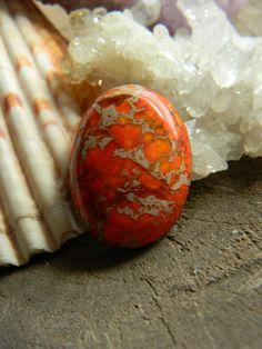 Beautiful Orange Sea Sediment Jasper by MsCLeasBeadEmporium, $6.00