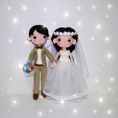 Items similar to Wedding couple- crochet doll on Etsy Crochet Dolls Free Patterns, Crochet Toys, Vietnam, Wedding Doll, Crochet Wedding, Amigurumi Doll, Yarn Crafts, Wedding Couples, Art Dolls