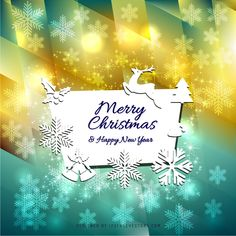 merry christmas and happy new year card background image