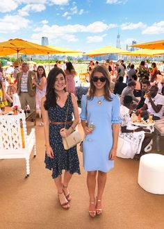Sophie Shoelover in the Camilyn Beth 'Ophelia' Dress in Periwinkle. Veuve Cliquot Polo Classic in NYC