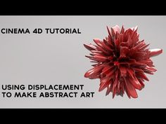 Cinema 4D Displacement Tutorial - Simple Abstract Art - YouTube