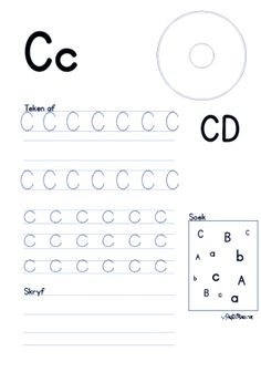 KraftiMama Free Printables, C D werksblaaie Preschool Learning Activities, Free Preschool, Preschool Classroom, Preschool Worksheets, Grade R Worksheets, Alphabet Worksheets, Good Study Habits, Kindergarten Readiness, Alphabet For Kids