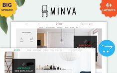 Minva - The Furniture Shop OpenCart Template #69670 Ecommerce Website Design, Website Design Layout, Website Design Inspiration, Web Layout, Layout Design, Design Ideas, Learn Web Design, Creative Web Design, Best Website Templates