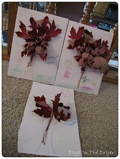 Easy Fallen Leaves Tree Craft