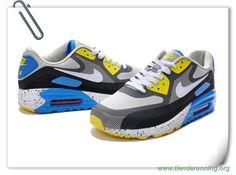 low priced 9b4d5 82f07 tiendas de deportes Hombre Negro Gris lobo-Gris oscuro-azul Nike Air Max  Lunar90 Wr 654471-002