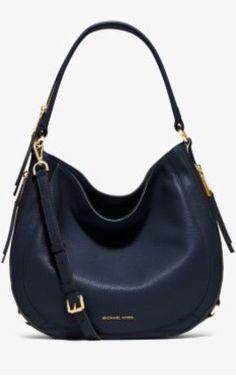 f7269c3bce02 Michael Kors Julia Med.convertible Shoulder Crossbody Bag Leather Navy for  sale online