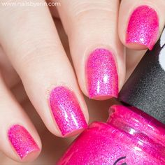 China Glaze Trolls World Tour Collection China Glaze, Cute Summer Nails, Nail Polish Collection, Troll, Swatch, Blog, Finger, Pink, Poppy