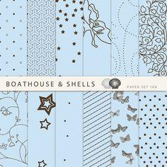 12 x Digitales Papier digitales Bastelpapier von BoathouseAndShells