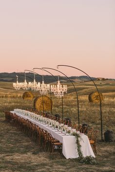 An Intimate Tuscan Wedding Featuring a Hillside Reception Under Sparkling Chandeliers - Green Wedding Shoes Tuscan Wedding, Rustic Wedding, Small Wedding Decor, Small Wedding Receptions, Small Garden Wedding, Garden Wedding Decorations, Outdoor Wedding Reception, Wedding Dinner, Italy Wedding