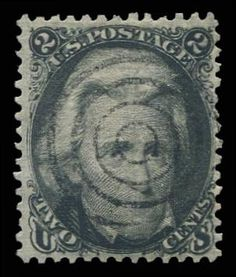 Jerry Connolly Stamps has this item on Collectors Corner - Scott# 84, 1867 2c Black D. grill, PSE NG 0, Used