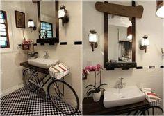 Mueble para bano con bicicleta on 1001 Consejos  http://www.1001consejos.com/social-gallery/puerta-reciclada-3