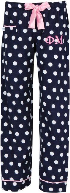 Navy Dot PJ Pants