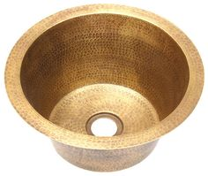 Www.coppersinksdirect.com   Bar Sink (RBV14RBS) Rustic Weathered Brass  Round Bar