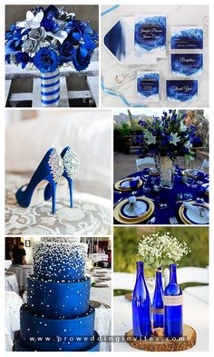 Hottest Wedding Color Trends-Blue Color Combos and Invites Royal Blue Wedding Decorations, Wedding Themes, Wedding Centerpieces, Wedding Cards, Our Wedding, Dream Wedding, Graduation Centerpiece, Wedding Ideas, Church Wedding