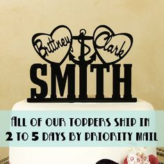 Wedding cake topper Mr. and Mrs. by DistinctlyInspired on Etsy, $26.95