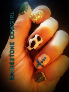 Rhinestone Cowgirl Nails