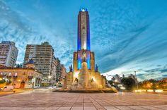 Atardecer en el monumento a la bandera, Rosario, Argentina.
