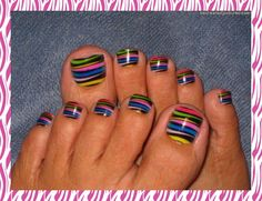 Cool toe nails - these are so fun!
