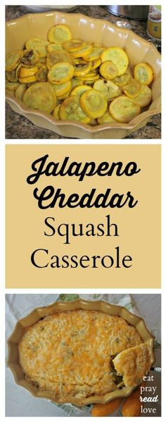 Making use of summer garden squash, this casserole is delightfully spicy and cheesy. Find it at http://eatprayreadlove.com
