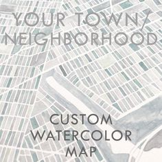 "9"" Custom Watercolor Map YOUR NEIGHBORHOOD Block Plan (Original Watercolor Commission) 9x9 Painting Wedding Anniversary Graduation Gift Staunton Virginia, Richmond Virginia, Watercolor City, Watercolor Wedding, Detroit Michigan, Cleveland Ohio, Chicago Illinois, Georgetown Washington Dc, New England Usa"