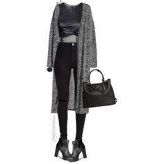 Grunge chic black fall outfit