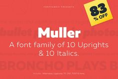 Muller Font Family of 20 Professional Fonts - only $37!
