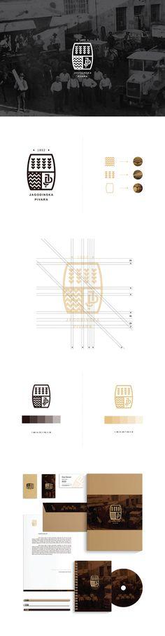 Jagodinska pivara / Jagodinska Brewery by Ognjen Stevanovic, via Behance Brand Identity Design, Graphic Design Branding, Corporate Design, Logo Design, Corporate Identity, Branding And Packaging, Logo Branding, Branding Website, Typography Logo