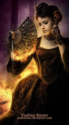 Fire Queen by PauBuenoZ.deviantart.com on @deviantART