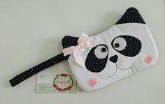 Necessaire panda #ateliejanagarciarey #necessairepanda