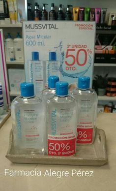 Agua  Micelar Mussvital, nuevos packs