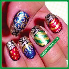 ! ★Nail Art Couture★ !: Christmas Nail Art #3: Ornaments