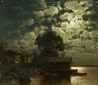 Hjalmar Munsterhjelm Helsinki, Painters, Landscape, Moonlight, Scenery, Landscape Paintings, Corner Landscaping