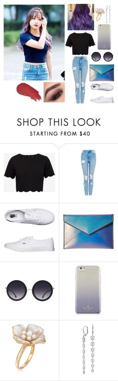 """""""Choi Yoojung (i.o.i / Produce101)"""" by esther-1022 ❤ liked on Polyvore featuring Ted Baker, Vans, Rebecca Minkoff, Alice + Olivia, Kate Spade, Ross-Simons, Blue Nile and Lumene"""