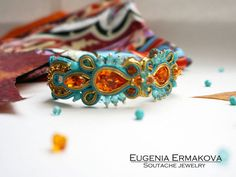 Soutache bracelet Blue orange soutache bracelet от JaneEJewelry