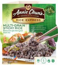 Multi-Grain Sticky Rice 3D rice and millet are the grains in this product.