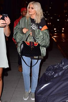 Kylie Jenner Wore $55 Sneakers Out In New York City | Teen Vogue