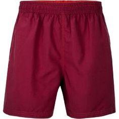 Klassische Schwimmmer-Shorts Navy mit Rot