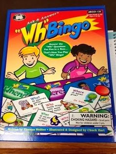 Major Speech Pathology Fun with a Side of Gluten Free: Ask and Answer WH Question BINGO Review